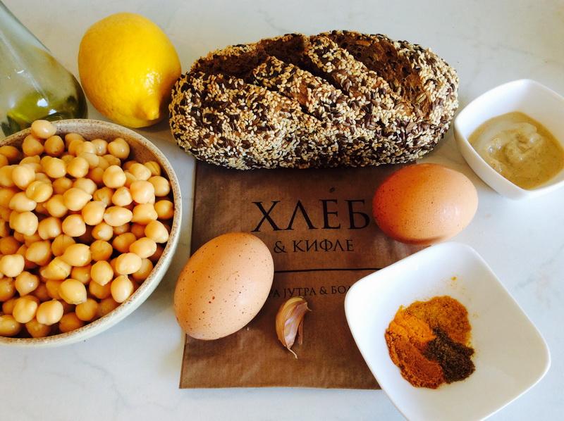 Zacinjeni humus sa posiranim jajima 5 s